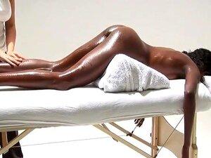Schwarz Lesbisch Öl Massage