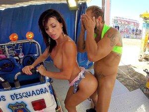 Maria Antonia Alzate nimmt Nachos fetten Schwanz in ihren kolumbianischen Hintern