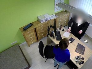 Sekretärin Kamera Büro Versteckte Vorsicht, Kamera: